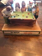 Hoffman The Hustler Pool Playing Dogs 1978 Porcelain Decanter