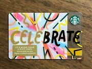 Starbucks Gift Card 2017 Celebrate Cheer Congratulations Gold Holiday No Value