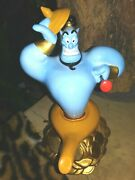 Genie Schmid Two Vintage Rotating Musical Figurines Of Hand Glazed Ceramic New