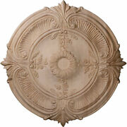 Cmwac Acanthus Carved Wood Ceiling Medallion