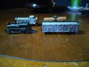 Model Power N Scale A.t.and S.f. Locomotive Shell / Milwaukee Road Boxcars Caboose