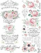 Redesign With Prima Redesign Decor Transfer - Overflowing Love Floral