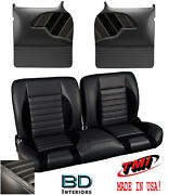 Sport R 55 Bench Seat And Molded Door Panels 1955-1959 Chevy Trucks - Grey Stitch
