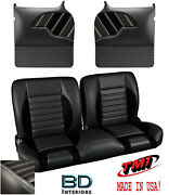 Sport R 55 Bench Seat And Molded Door Panels 1955-1959 Chevy Trucks -white Stitch