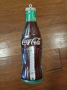 Vintage Coca Cola Thermometer Bottle Shaped Advertising Works 1960-70s Donasco