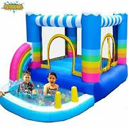 Meiouka Kids Inflatable Bounce Houses Jumper With 350w Blower Small Ball Pit ...