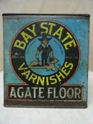 1916 Bay State Paint Varnishes 1 Gallon Advertising Can Wadsworth Howland And Co