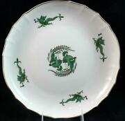 Meissen Dragon Green Low Shallow Bowl Gold Accents Great Condition Mfg 2nd