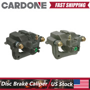 Rear Left And Right Brake Calipers With Bracket Fits Acura Rl 1999-2004 - Cardone