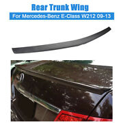 For Mercedes-benz E-class W212 2009-13 Matte Black Rear Trunk Spoiler Wing