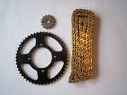 Honda Crf125f New Sprocket And Gold Chain Set 13/46 13 - 18  Small Whl