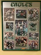 Signed 1988 Eagles Poster By Reggie White Buddy Ryan Cunningham More