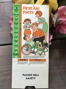 Vtg Pacific Bell Telephone Safety First Aid Facts Pull Down Card 1960-70's Atandt