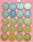 1899-1907 Indian Head Cents, Penny, 20 High Grade Coins 2