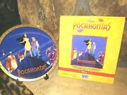 Pocahontas Gold Rimmed Commemorative Disney Plate,w/stand,1995,8-1/4,new, Mib