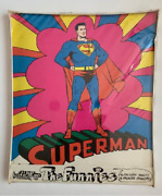 Vintage 1969 Graphicana The Funnies Superman Stationary Set Still Sealed