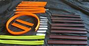 31 Hot Wheels Track And Connectors Building Toy Set Lot Used Pieces Orange Black