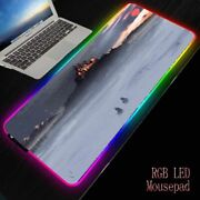 Computer Mouse Pad Rgb Large Winter Fantasy Castle Gaming Led Cool Pc Desk Mat