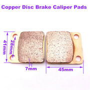 Disc Brake Caliper Pads Copper For Chinese Made Pit Dirt Bike Motorcycle Parts