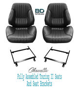 1968 Chevelle Touring Ii Front Bucket Seats Brackets And Rear Seat Cover