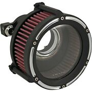 Trask Tm-1022-rc Assault Charge High-flow Air Cleaner Black Cut Harley Xl 91-20