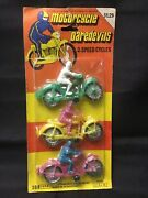 Dime Store Toy Plastic Motorcycle Rider Hong Kong 1970s Vintage Pack Of 3