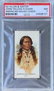 1888 N2 Allen And Ginter American Indian Chiefs John Yellow Flower Psa 7 Nm