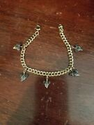 Rare - Unique - Pre-owned/vintage 12k Gold Filled Bracelet Charm Style 7 With 5