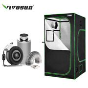 Vivosun 4and039 X 4and039 Grow Tent W/ 4 6 8 Inline Fan Carbon Filter Air Ducting Kit