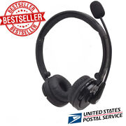 Over Head Bluetooth Wireless Headset Noise Cancelling Stereo Boom Mic Headphone