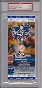 2000 World Series Game 2 Full Ticket Psa 10 Roger Clemens - Mike Piazza
