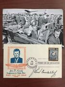 John Connally Signed First Day Cover Wounded John F. Kennedy Assassination