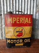 Vintage Imperial Refineries 2 Gallon Motor Oil Can St. Louis Mo Gas