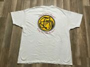 Vintage Fish The Jester Is Dead Double Sided The Company Band Funk Tee Sz Xxl
