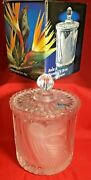 Vintage Action 24 Lead Frost Crystal Glass Biscuit Barrel Paradise W. Germany