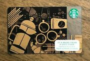 Starbucks Gift Card 2013 Braille Black Gold French Press Beans Cups No Value