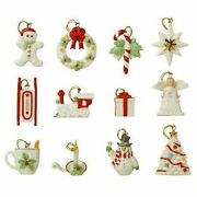 Lenox Miniature Tree Ornaments Set Of 12 Winter Delights New In The Box