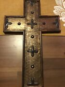 Mission Furniture Style Cross - Oak With Metal