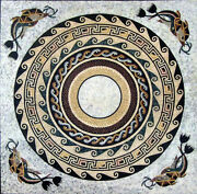 42and039and039 Marble Table Top Mosaic Inlay Art Handmade Work Home Decor