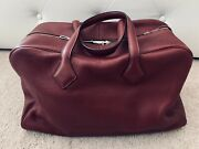 Hermes Taurillon Clemence Victoria Ii Bag Travel Size 43