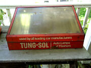 1960s Tung Sol Advertising Auto Lamp And Flasher Display Cabinet Service Station