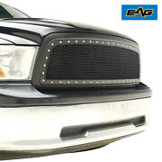 Eag Replacement Mesh Grille Upper Black Grill Fit 2009-2012 Dodge Ram 1500