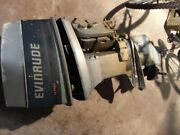 60 Hp. Evinrude Boat Motor 399.00 W Runs But Not Well Good Lower Unit