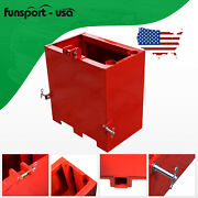 Ballast Box 3 Point Category 1 Tractor Attachment Hitch Counterweight Red Holder