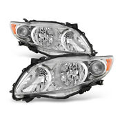 For 09-10 Toyota Corolla Headlight Factory Style Replacement Crystal Clear Lamp