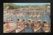 1955 Yacht Basin Old Wooden Boats Docks Gas Signs Manasquan River Nj Monmouth Co