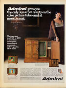 Vintage 1968 Admiral Console Television Woman By Tv Print Ad Advertisement