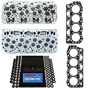 New Cylinder Heads W/ Arp Studs And Head Gaskets - Fits Lly 04.5-05 Gm Duramax 6.6