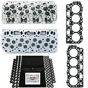 New Cylinder Heads W/ Dk Studs And Head Gaskets - Fits Lb7 01-04 Gm Duramax 6.6l
