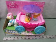 Fisher Price Little People Princess Carousel Carriage Horse Umbrella Coach